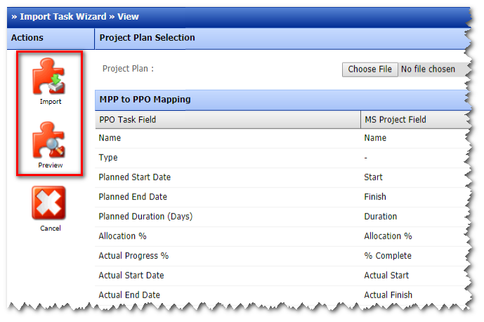project task view